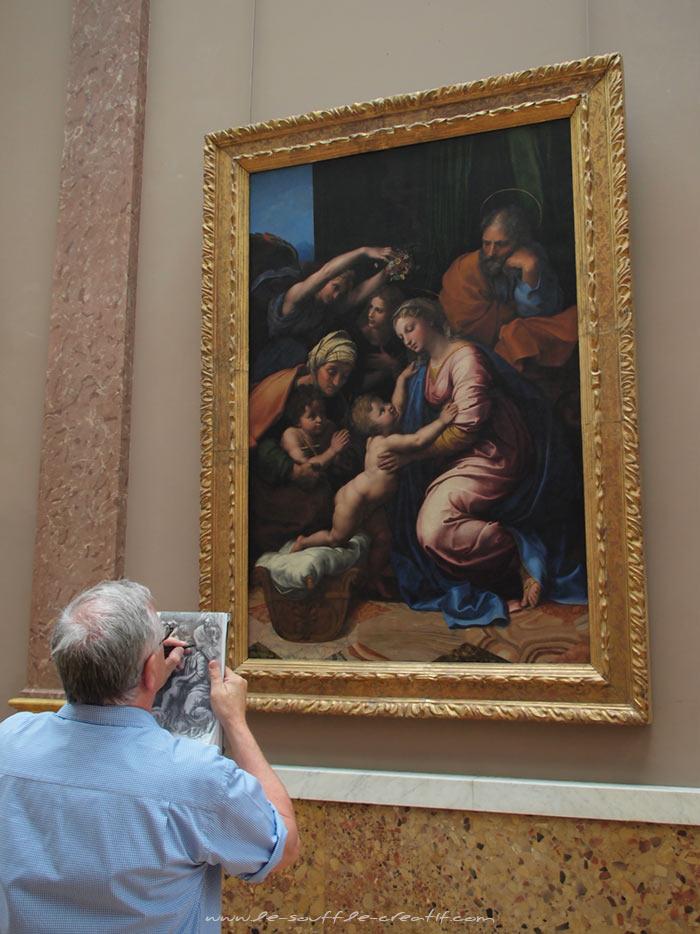 Dessin Louvre créativité artistique
