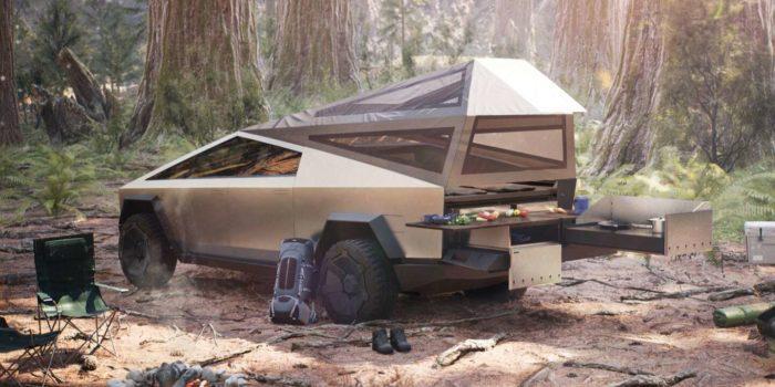 Le Cybertruck en version camping
